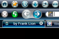 Metal Lion - Blue Moonlight Vista Toolbars.