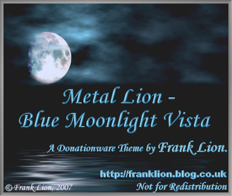 Metal Lion - Blue Moonlight Vista